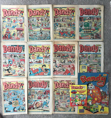 12 x Dandy comics from 1981 -84 - job lot - good condition