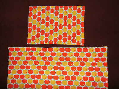 GRAZIELA Äpfel Kinder Bettwäsche Stoff 70er vintage apples fabric bedding 70s