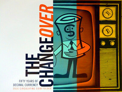 2016 MINT SET--THE CHANGEOVER: 50 YRS of DECIMAL CURRENCY