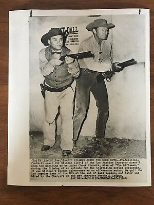 Wire Photo - 1960 Los Angeles Chargers Sid Gillman, Chuck Connors - The Rifleman