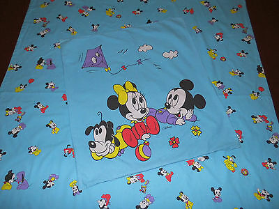 bettw sche disney micky maus minnie mouse 80er vintage. Black Bedroom Furniture Sets. Home Design Ideas
