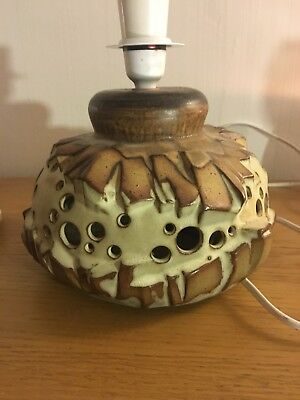 Vintage 1970s Shelf Pottery Halifax Lamp