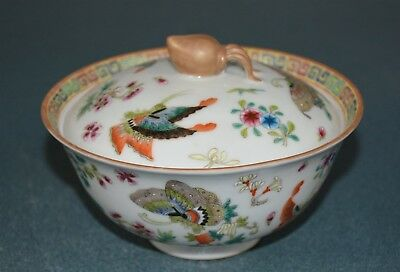 Exquisite Chinese Famille Rose Porcelain Bowl Marked Qianlong Rare Mt3876