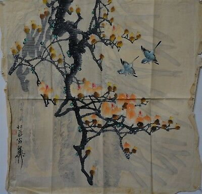 Fine Old Large Chinese Painting Signed By Artist Rare Hk3793