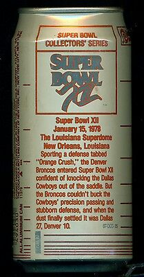 Diet Cherry Coke  Super Bowl Collectors Series Can - Sb Xii - Cowboys / Broncos
