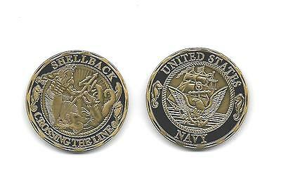 Navy Crossing The Line Shellback Neptune Military Challenge Coin