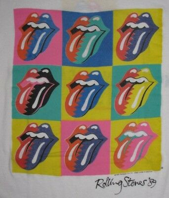 Vintage 1989 THE ROLLING STONES NORTH AMERICAN TOUR T-SHIRT M (38-40)