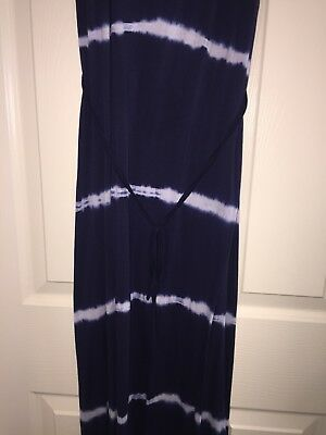 Motherhood Maternity Maxi Dress Blue Tie Dye Size M Medium Never Worn Super Soft