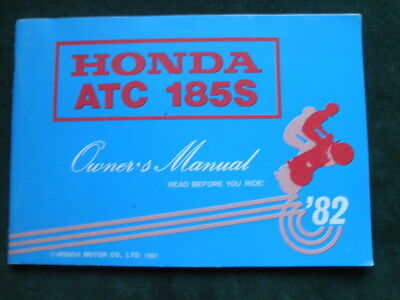 1982 Honda ATC 185s Owners Manual small 55 pages