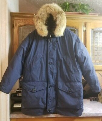 New Cabelas Premium Goosedown Parka Coat, Coyote Fur Detachable Hood Trim