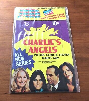 """1977 Topps """"Charlie's Angels Series 3"""" - Empty Display Box"""