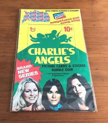 """1977 Topps """"Charlie's Angels Series 4"""" - Empty Display Box"""