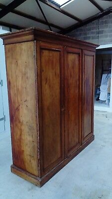 Pine wardrobe, Very large estate wardrobe, antique wardrobe, not sure of the age