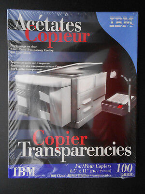 """New Boxed IBM Copier Transparencies 8 1/2"""" x 11"""" 100 Sheets,over-head projecting"""