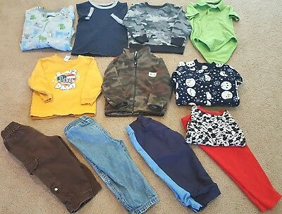 Lot of Boys Toddler Fall & Winter Clothes 24 Months/2T: Free Shipping!