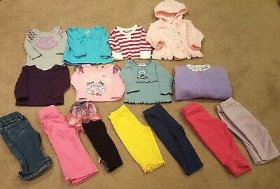 Lot of Girls Toddler Fall & Winter Clothing 12-18 months Free Shipping!