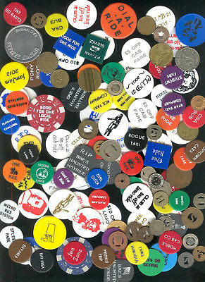 Collection of 300 different transit tokens