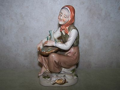 Vintage Arnart Creation Japan Woman With Fish Figurine