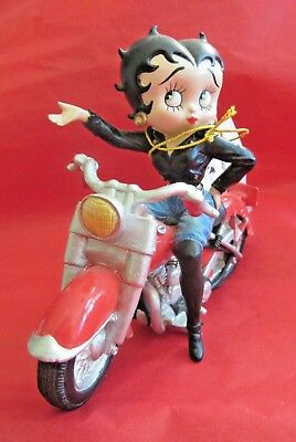 1999 King BETTY BOOP #6851 Motorcycle Exclusive Classic Figurine