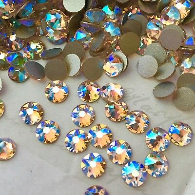 SWAROVSKI CRYSTAL SILK SHIMMER EFFECT 100 x SS20 flatbacks rhinestones GLUE ON