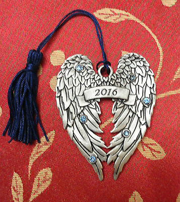 AVON 2016 ANGEL WINGS PEWTER ORNAMENT * package is not A-1 item is perfert