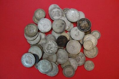 7.9 Ounce Lot of Great Britain Silver Coins, Circulated