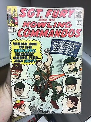 Sgt. Fury And His Howling Commandos #12! In FINE Condition! RARE! LOOK!