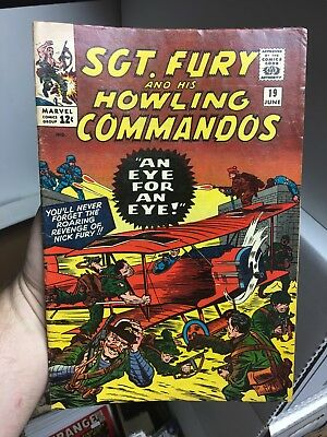 Sgt. Fury And His Howling Commandos #19! In FINE Condition! RARE! LOOK!