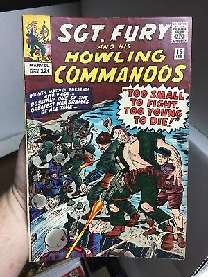 Sgt. Fury And His Howling Commandos #15! In FINE Condition! RARE! LOOK!