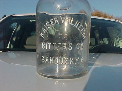 1890`s Kaiser Wilhelm Bitters Co. Sandusky, O. whiskey bottle very nice!!!
