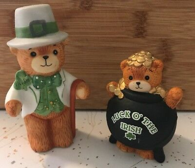 2~Lucy & Me St Patricks Day Luck O' The Irish Bears / Pot O Gold Lucy Rigg 79/89