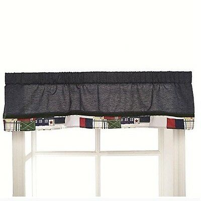 Oxford Bear Collection Window Valance Window Covering Nautical Chambray Kidsline