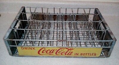 Rare vintage Coca-Cola 24 pack metal crate yellow mid 1900s antique lot#29