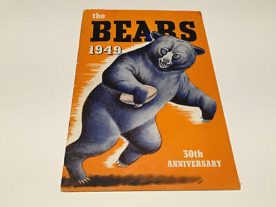 The Bears 1949 30th Anniversary (Statistics Book) -Standard Oil- 32 pages