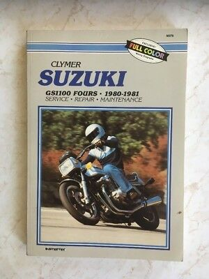 Suzuki GS1100 Clymer Manual, 1980-1981. classic collectable