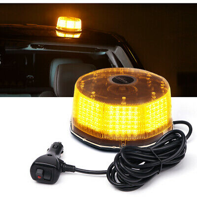 XPRITE 240 LED Sun Beam Strobe Rotating Beacon Rooftop Emergency Light-AMBER