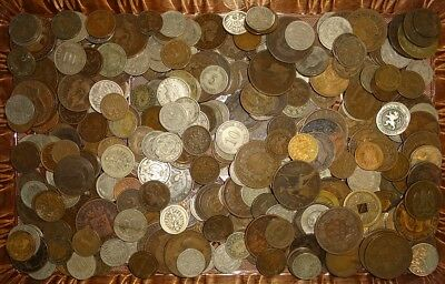 Lot Of (3) Pounds Mixed World Coins All Dated Pre-1900 B!!!!