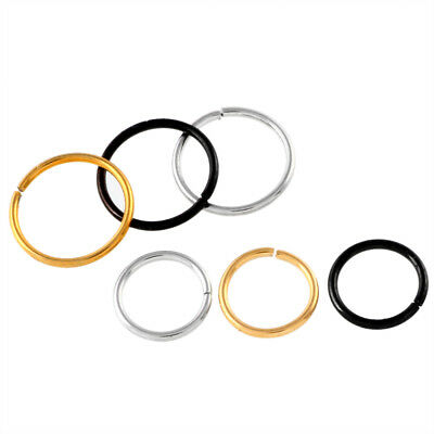 1pc 20G Round Ends Stainless Steel Seamless Ring Nose Lip Helix Cartilage Tragus