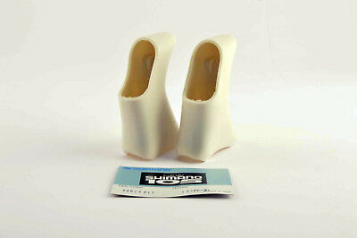 NEW Shimano 105 #86 E 9811 white Brake Lever Hoods from the 1990's NOS BL-1055