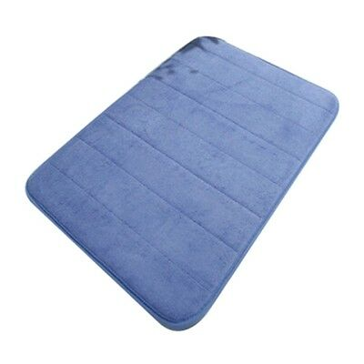 T8 New Arrival Luxurious and Soft Absorbent Memory Foam Bathmat,40*60cm Navy X
