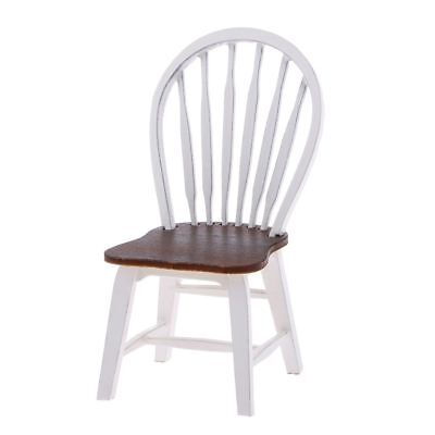 T8 Dollhouse Miniature Kitchen Dining Room Furniture White Wooden Side Chair T