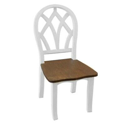T8 Dollhouse Miniature Kitchen Dining Room Furniture White Wooden Side Chair S