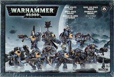 Used 10 Man Space Wolves Pack - Grey Hunters / Blood Claws Warhammer 40k
