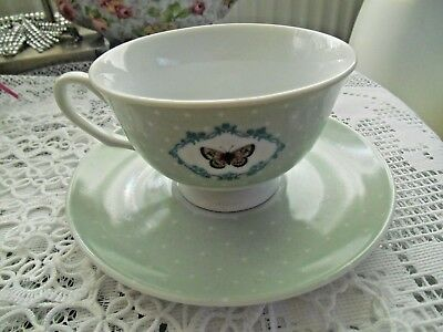 Laura Ashley Butterfly Cup And Saucer