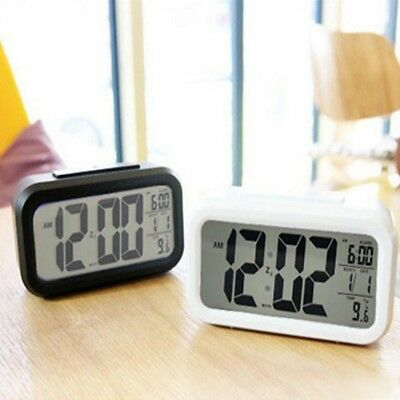 LED Display Digital Backlight Table Alarm Clock Snooze Thermometer Calendar Pop.