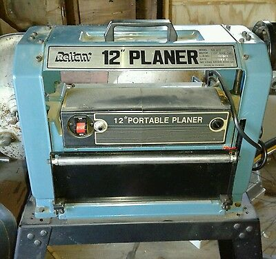 "reliant 12"" planer vintage  with heavy metal stand works good w/owners manual"