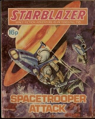 Spacetrooper Attack,starblazer Space Fiction Adventure In Pictures,no.70,1982