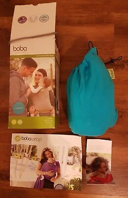 Boba Baby Wrap Sling Carrier in Box - Turquoise