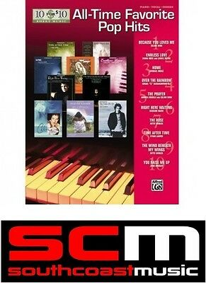 10 For 10 Sheet Music All Time Favorite Pop Hits Easy Piano Song Book Songbook