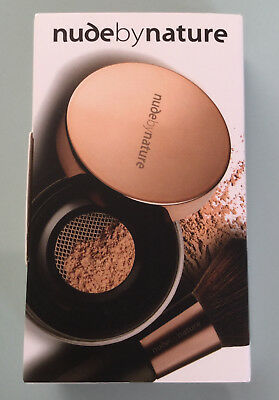 Nude by Nature Foundation Powder & Kabuki Pinsel N5 Champagne OVP
